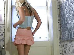Petite blonde naughty alone time