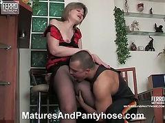 Leonora&Nicholas mature pantyhose video