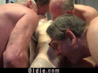 Debauched Teen Lucianna Karel Fucking Grandpas