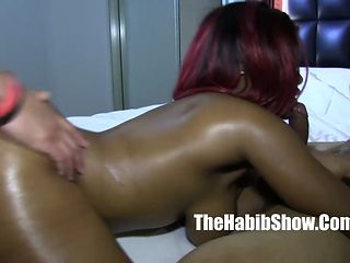Big Booty Black Babe Gets Smashed By Two White Boners