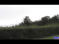 Brit mature in nylon sucks cyclist dick
