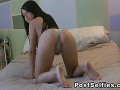 Busty Babe Chrissy Marie Shows Naked And Masturbates On Cam