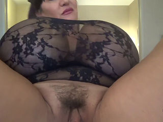 Brunette Milf Playing With Her Huge Tits