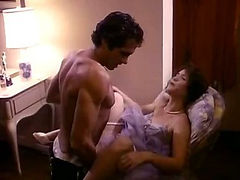 Young cutie enjoys quick sex in an 80's porn movie