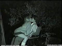 Naked lovers having fun