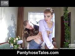 Aubrey&Herbert kinky pantyhose action