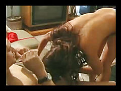 Chick fucked by the guy on the couch