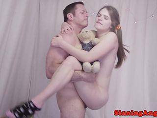 Teen pornstar cockriding and deepthroating