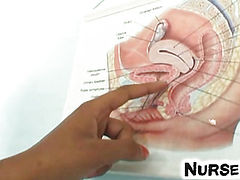 Cuban latina nurse Manuela gyno speculum self check-up