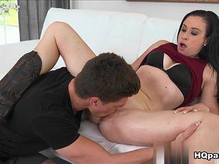 Horny pornstar Bruce Venture in Hottest Brunette, Cunnilingus sex movie