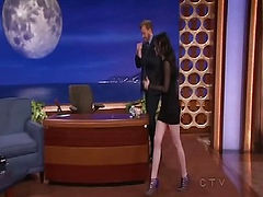 Here is Kristen Stewart looking damn hot and showing off essentially all of her sexy stems in one hell of a short dress on Conan. Check out the video to see everything in sexy motion.
