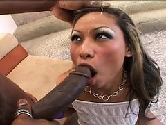 Lara Brookes demonstrates her naughty parts before she masturbates
