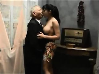 Beautiful Teen Babe Making Love With Two Old Men