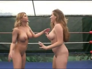 Naked Ring Wrestling With Hot Girls