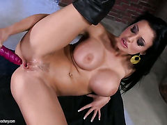 Aletta Ocean with juicy melons gets frisky on camera