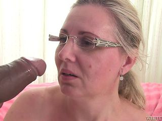 cum facial Mature blonde granny
