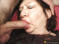 In the mouth, full member of the whore