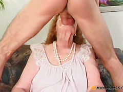 In the mouth mature aunt put his cock