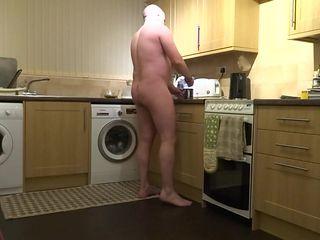 Kitchen making coffee and washing up