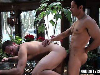 Big dick son oral sex and cumshot