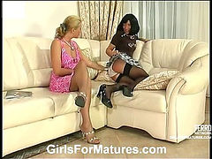 Bridget&Sheila mature lesbian video