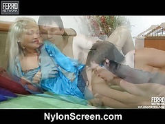 Dolly&Rolf nylon lovers in action