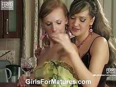 Helena&Emilia pussyloving mature on video