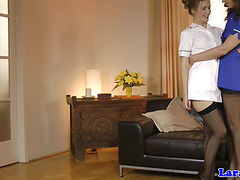 Mature in stockings being pussylicked