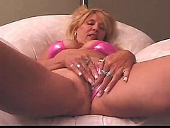 Mature in shiny bikini fucked and loving it