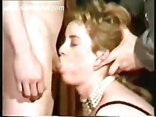 Shy slave with beautiful body is forced to give a blowjob and got spanked on her ass while her master is watching