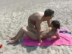 They fuck at the beach