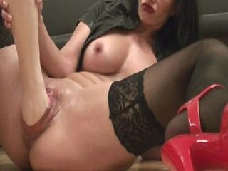 Amateur Milf Fisting Herself With A Huge Fist Dildo