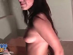 Picked up brunette swallowed all sperm