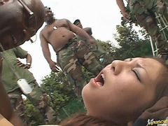 Interracial Gangbang For The Asian SLuts Rika And Kana
