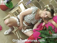Lillian&Ninette mature lesbian video