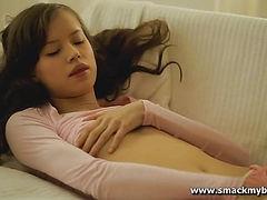 Skinny solo girl erotic masturbation