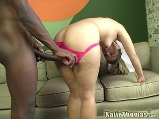 White woman enjoying her first interracial relationship and BBC