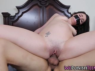 Tied Teen Gets Pounded