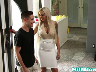 Pornstar Nina Elle Fucks Cock Between Bigtits