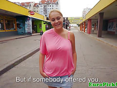 Eurosex girlnextdoor gets tits jizzed on