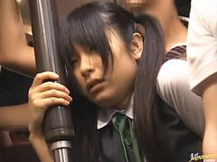 Asian Teen Getting Fucked In Public With Her School Uniform On