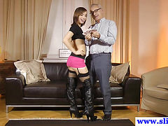 Young amateur in lingerie pussyfucked