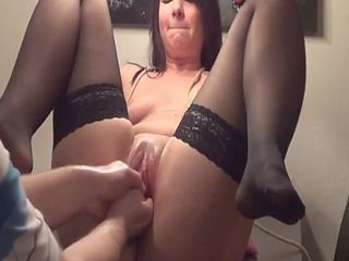 Double Fisting Her Greedy Teen Pussy