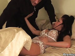 Audrey Bitoni in bedroom