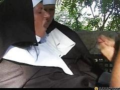 Hungry nun fucks guy