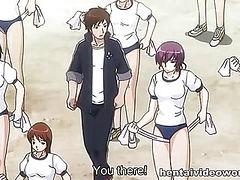 Sexual training of hot hentai girls