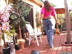 Sexy black mom Blaze large gets cumshot