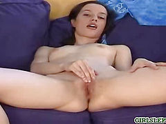 Teen shows off pussy
