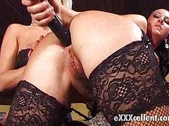 bosomy lesbians in stockings