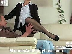 Martha&Adrian mature pantyhose action